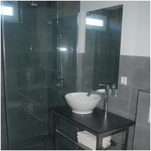 de luxe badkamer van bed en breakfast studio het Weerhuis